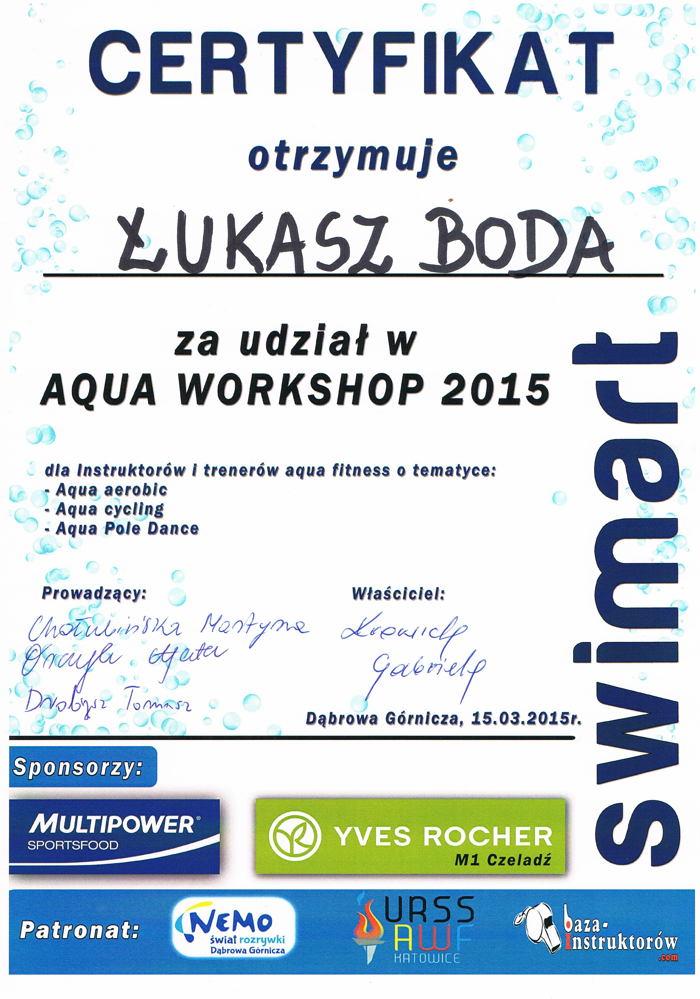 certyfikat swimart